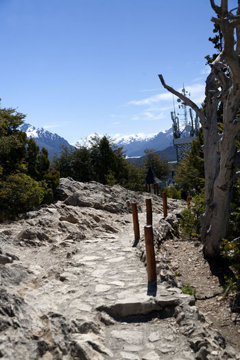 Cerro Campanario top footpath. Bariloche, Argentina. Cerro Campanario Bariloche Argentina Patagonia Argentina Footpath Panoramic View Argentina Bariloche Day Panoramic Point Patagonia Patagonia Argentina Sky Mountain Nature No People Beauty In Nature Mountain Range