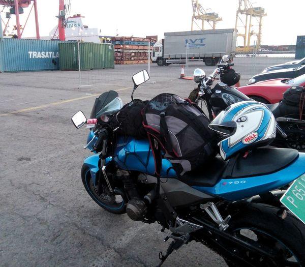 Crash Helmet Harbour View Headwear Kawasakiz750 Motorbike Motorcycle Seaport Transportation