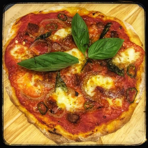 Homemade Pizza Food Food And Drink Freshness Leaf Plant Part Ready-to-eat Pizza Indoors  Close-up No People Basil Herb Italian Food Cheese Indulgence Garnish EyeEmNewHere