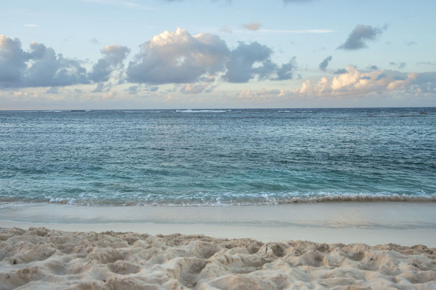 Beauty In Nature Beauty In Nature Blue Clouds Day Expressive Sky Nature No Filter No People Outdoors Paradise Peace Real Relaxing Sand Scenics Sea Sky Sunset Taking Photos Tranquility Tranquility Vacation Vacations Water