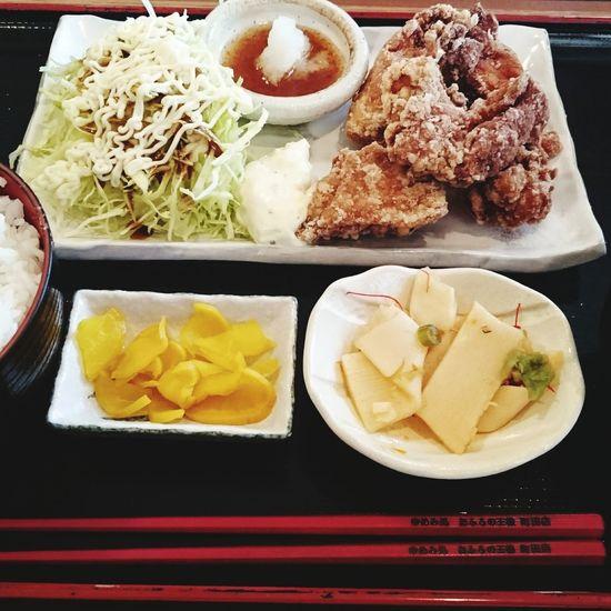 食べもの Food Foods Chickens 唐揚げ定食 唐揚げ