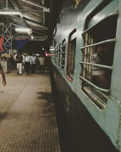 Train Station Locomotive Local Trains Indian Railways Train Compartment EyeEm Selects People Passenger Train Night Photography Nightlife Returning Home