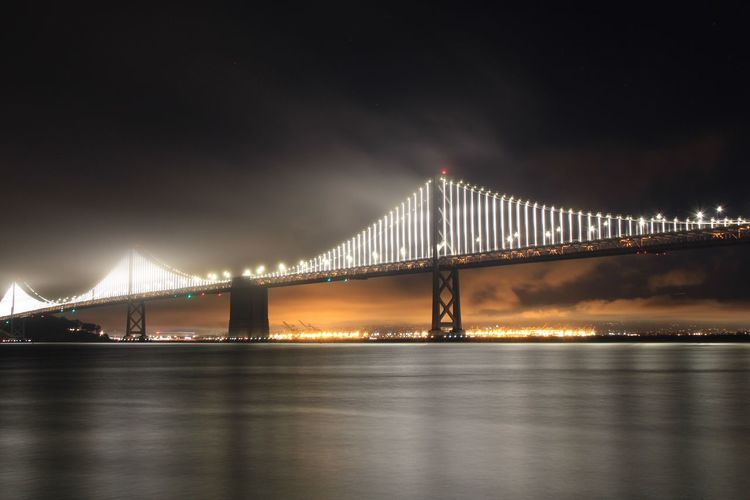 Citynights San Francisco Bridge - Man Made Structure Architecture Night Tranquility Tranquil Scene Bay Area The Architect - 2017 EyeEm Awards