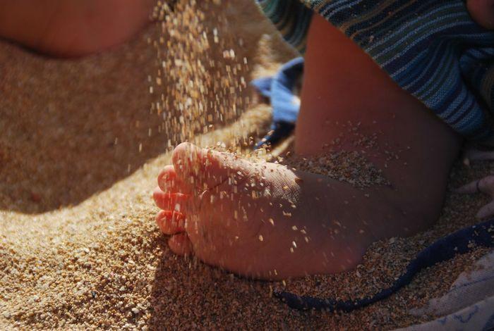 Beach Sand Baby Feet