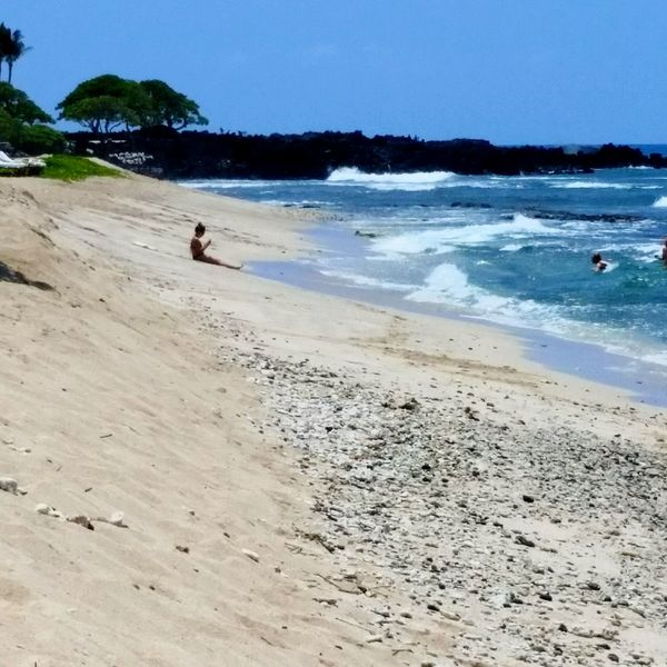 Kona Hanging Out Relaxing Alone Time Beachphotography Beach Photography The Tourist Sunny Day Tropical Surf Ocean Hawaii Kona Blue Sky Shades Of Blue Solitude Moment Of Zen The Essence Of Summer EyeEm Best Shots - Landscape Summertime Summer Sunny☀ Enjoying Life Blue Water Blue Sky Shades Of Blue