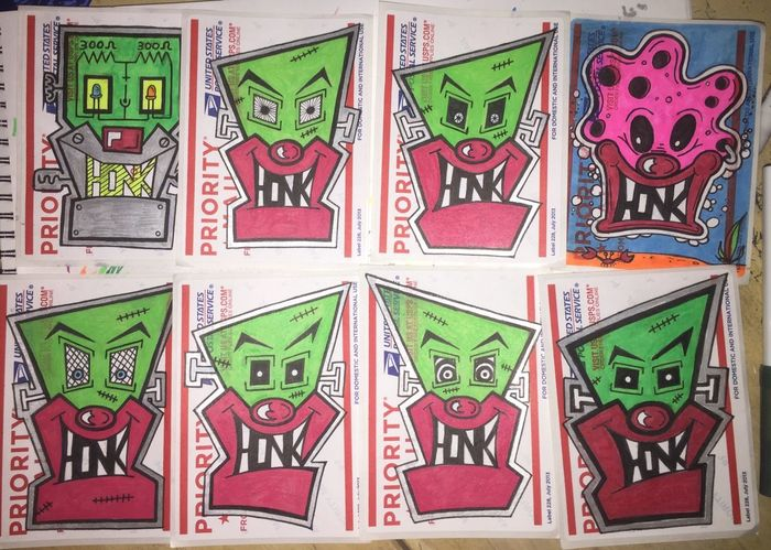 Stickerart Street Art/Graffiti Clownsec The Clown Army Graffiti Street Art Stickerbomb Clown Drawing Slaps