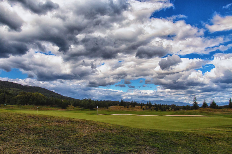 Golf Golf Course Grass Tranquility Cloud - Sky Pravets Tranquil Scene Travel Destinations