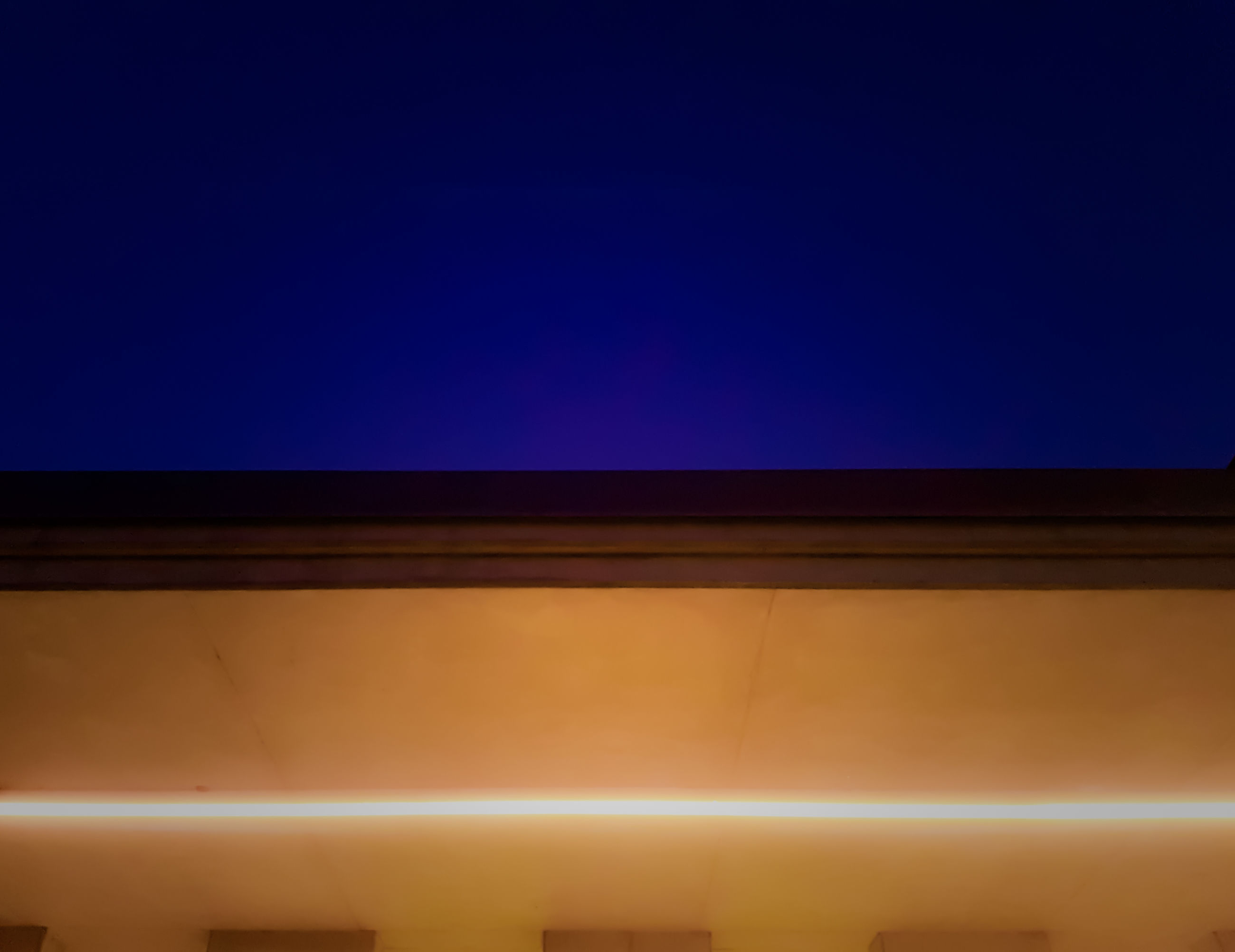 low angle view, architecture, blue, no people, high section