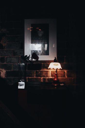 vintage lamp in