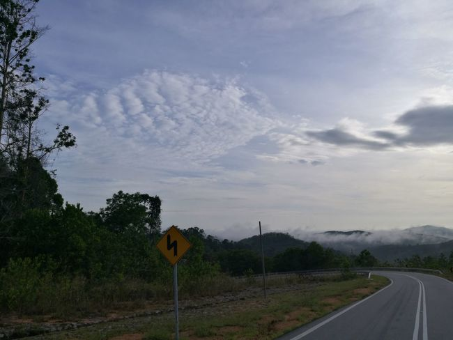 Nature Cloud - Sky Beauty In Nature No People Morning Sky Tree Hillview Cornering Sideboard