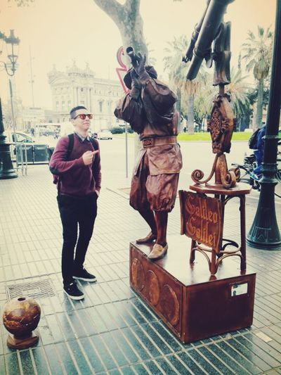 Barcelona, las ramblas ; Daniel