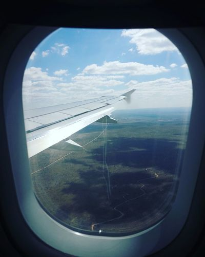 From the Mother City to The Land of The Brave Cape Town, South Africa Airplane Flying Sky Aerial View Window Windhoek, Namibia