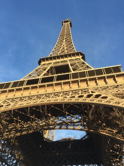 France Paris Eiffel Tower Architecture Built Structure The Past History Low Angle View City Tower Tall - High Tourism Travel Destinations Sky Building Exterior Travel Architectural Feature Outdoors No People Nature