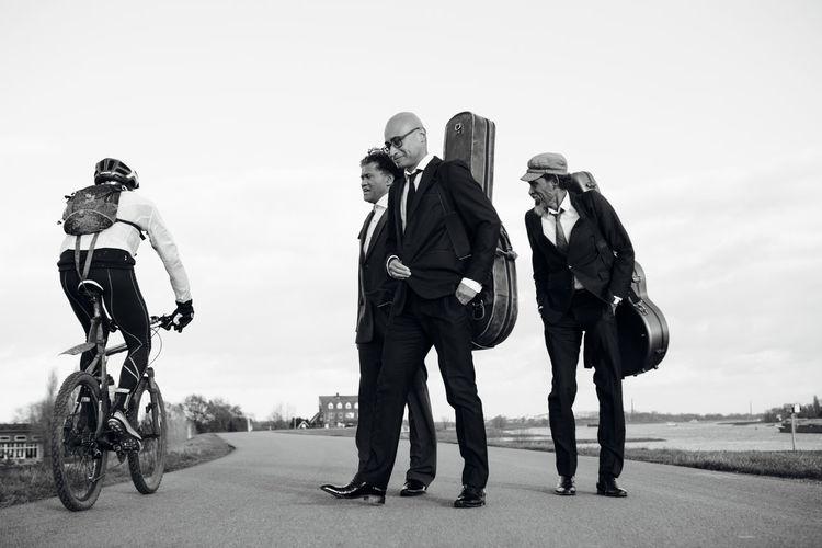 Biker Black And White Black Suit Blackandwhite Monochrome Musicians Noir Et Blanc Standing