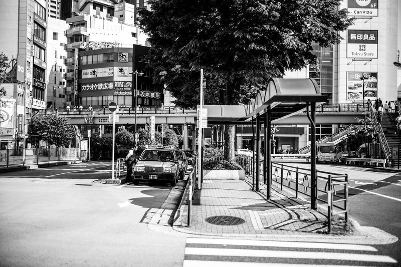Afternoon. City Life Summer Atomosphere Taxi Driver Taxi Stop Taxi Tokyo Street Photography Tokyo Tokyo,Japan Architecture City Tree Street Built Structure Plant Transportation Day Road City Life Sunlight City Street The Street Photographer - 2018 EyeEm Awards