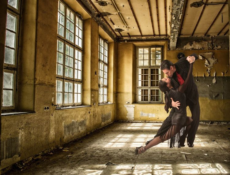 Tango for ever 🌹🥂🌹 Tangoargentino Tango Tango Dancers Premium Collection Abandoned Places EyeEmSelect EyeEm Best Shots Dancing One Person Window Architecture Real People Built Structure Day Full Length Young Adult Leisure Activity Casual Clothing Mammal Lifestyles Sunlight Indoors  Sitting One Animal Men