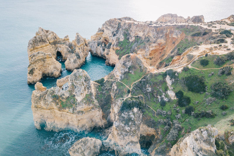 Algarve Atlantic Atlantic Ocean Coastline Drone  Lagos Ponta Da Piedade Tourist Attraction  Aerial View Algarve, Portugal Beach Beauty In Nature Blue Water Coast Day Dji Idyllic Nature No People Outdoors Rock - Object Rock Formation Scenics Sea Seaside Sky Tranquil Scene Tranquility Water Waterfront