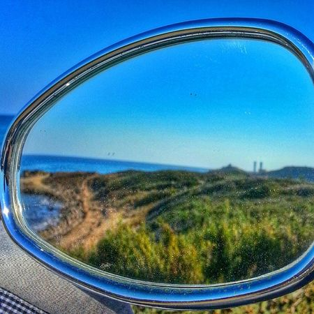 Alagadi Mirror Reflection Beach beautiful pretty blue flowers cyprus kyrenia girne kibris motorcycle september still hot still swimming