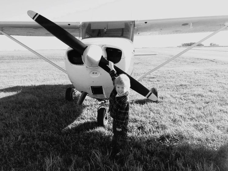 Start them young. Pilotseye Airplane Kids Aviation Pilot Blackandwhite