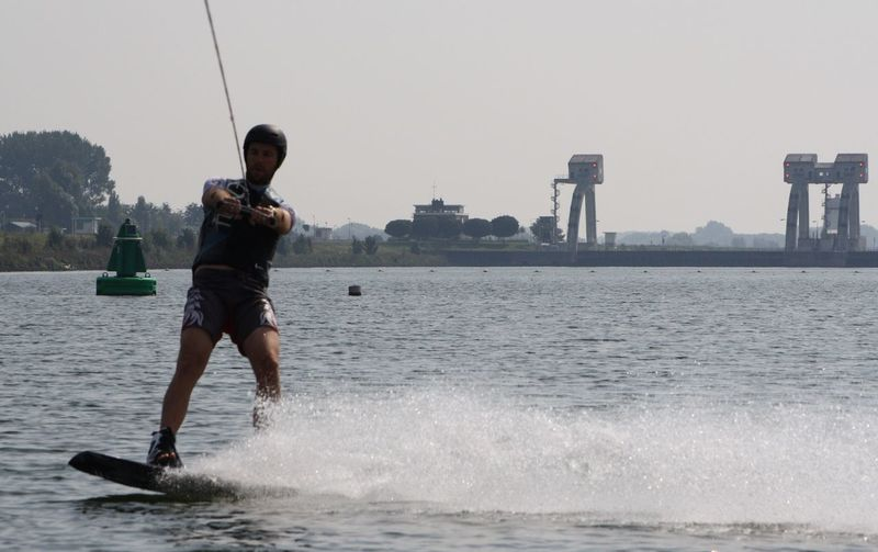 Chance Encounters AT-ST Wakeboarding Close Encounters Of The Third Kind At-st Walkers Water Hagestijn Utrecht , Netherlands