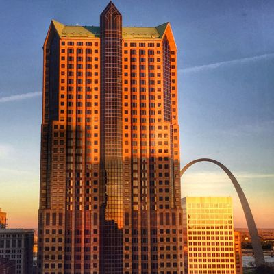Sunrise with the arch St. Louis, MO