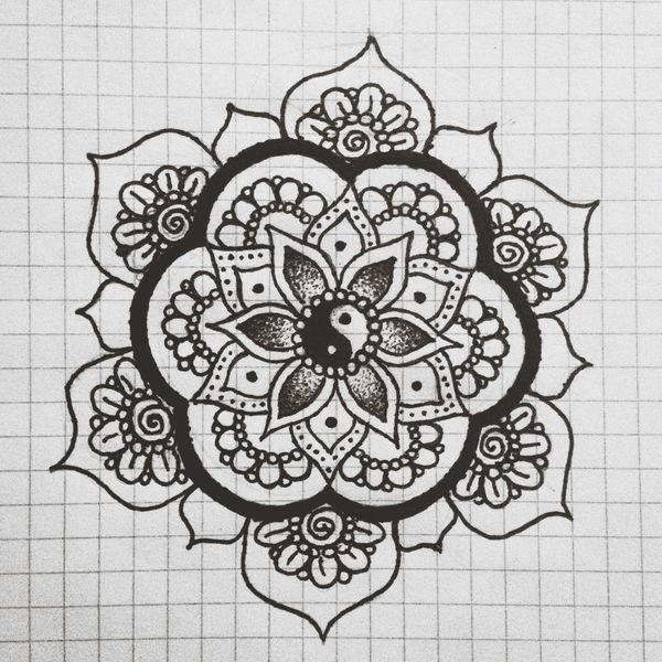 Drawing Mandala Relaxing Getting Inspired