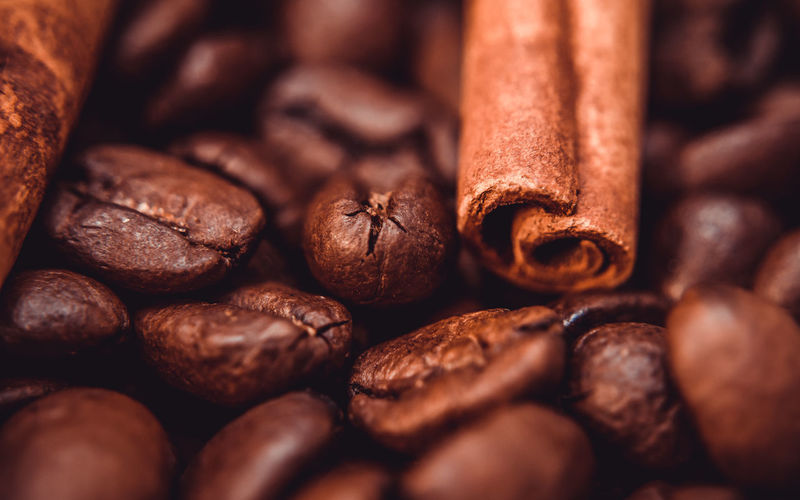 Fun with Coffee at home :p Backgrounds Brown Cinnamon Close Up Close-up Coffee Coffee Bean Coffee Beans Coffee Roaster Food Food And Drink Freshness Full Frame Macro Photography No People Raw Coffee Bean Sugar Cube