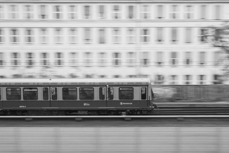 WEDDING Motion Rail Transportation Train Blurred Motion Transportation Public Transportation Mode Of Transportation Train - Vehicle Architecture Speed on the move Railroad Track Window Track Built Structure Passenger Train No People City Building Exterior Travel Subway Train Railroad Car Station