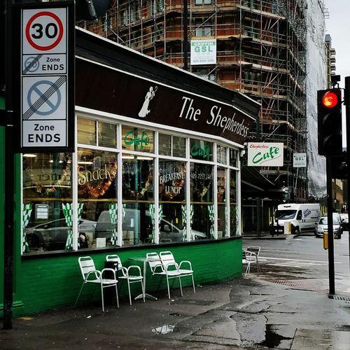 Cafe Shepherdess Walk Alfresco London Text