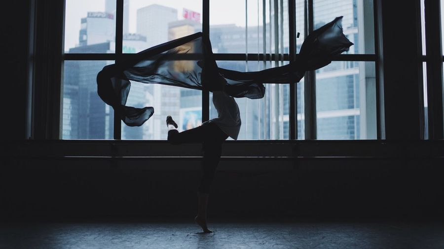 Chill Sexygirl Portrait Hk Window Beautiful Dancing Indoors  Young Women Ballet Day First Eyeem Photo