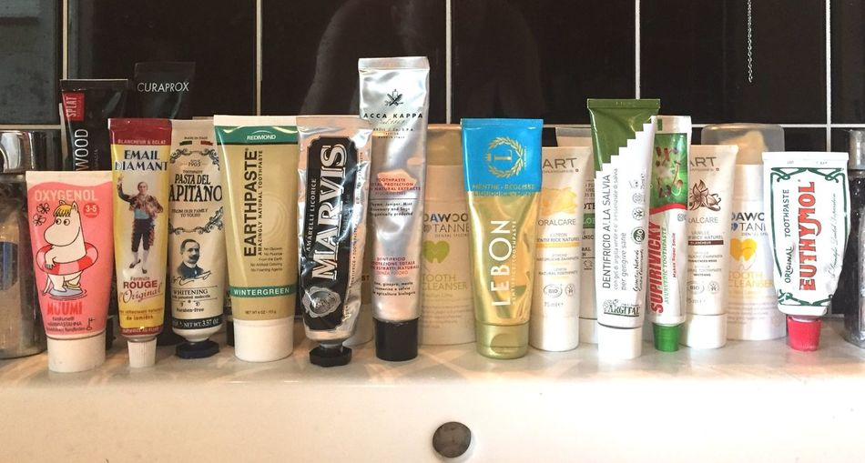 Variety Collection Teeth Care Tooth Brushing Bathroom Dental Awareness Mouthfreshener Dental Care Premium Collection Selection Choice Various Hard To Choose Toothpasteporn Toothpaste