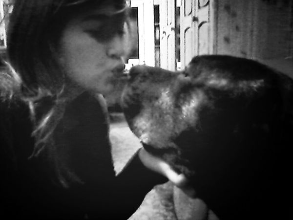Me with my Dog <3 Kiss Love :')