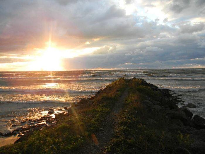 Lake Ontario. EyeEmNewHere Home Horizon Over Water Beauty In Nature Sunset Nature Tranquil Scene Outdoors