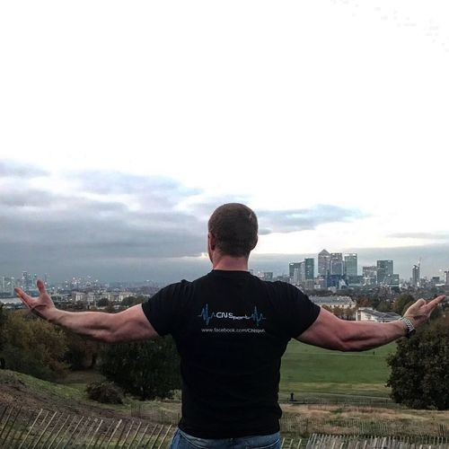 Holding London... One Person Sky Cityscape Men First Eyeem Photo That's Me London Tagheuer Body & Fitness BodyBuilder EyeEm Best Edits EyeEm Best Shots