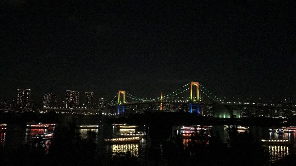 Night Bridge - Man Made Structure Illuminated Connection Architecture Suspension Bridge Built Structure Outdoors Sky Travel Destinations No People City Building Exterior Clear Sky Tokyo Bay Japan Tokyo Rainbowbridge Rainbow Colors
