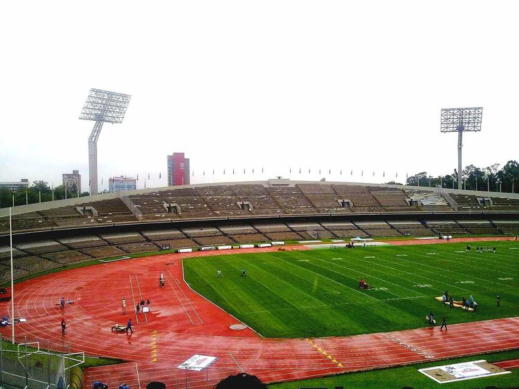 Sport Stadium Baseball - Sport Outdoors Day Green Color Grass Sky Playing Field City Soccer Field No People Urban Skyline Architecture Olimpic Stadium Mexico Mexico City UNAM Pumas  PUMASUNAM Cu Ciudad Universitaria