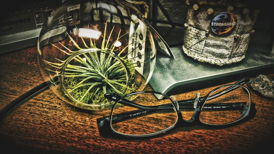 Showcase: December Airplant Glasses Desktop Mydesk Glassplanter No People