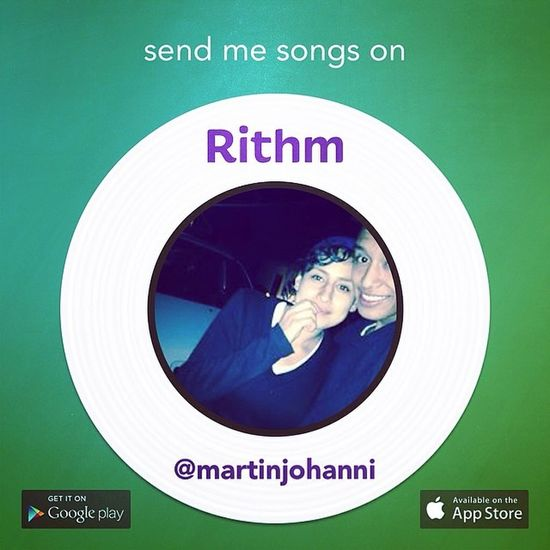 Go download the Rithm music messaging app and add me!