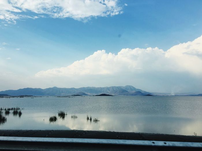 Water Sky Reflection Scenics Cloud - Sky Beauty In Nature Lake No People Nature Day Tranquil Scene Tranquility Mountain Outdoors Waterfront Mexico Lake