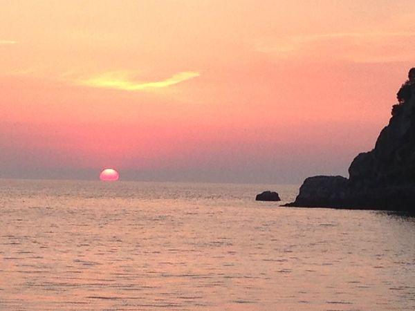 Water Sea Horizon Over Water Sunset Scenics Beauty In Nature Sun Nature Seascape Romantic Sky First Eyeem Photo
