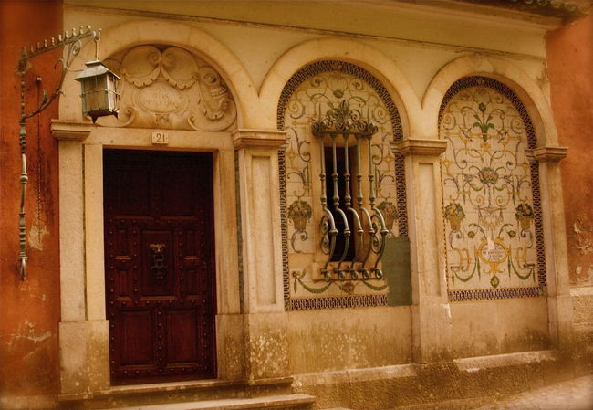 Arch Architecture Art Built Structure Closed Diferent Door Door Handle Entrance Façade Fairy Historic House Kvission Magical Mónica Nogueira. No People Ornate Outdoors Portugal Portuguese Culture Sintra Tiles Window Ornament