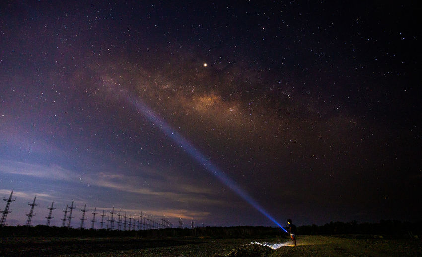 Milky Way at Samut sakhon Thailand 