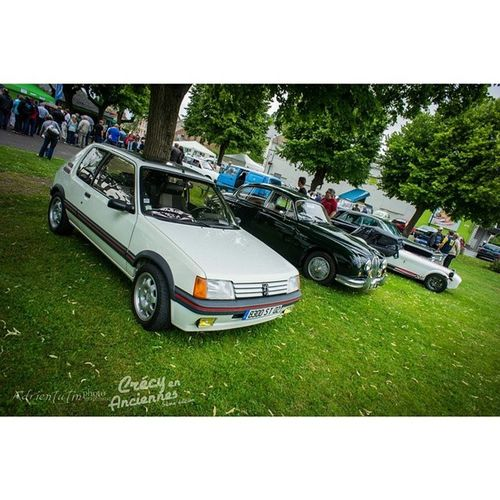 Crécy en Anciennes, c'est à l'image de notre club, des autos des Oldies aux Youngtimer . Crecysurserre Retro02 205gti jaguar