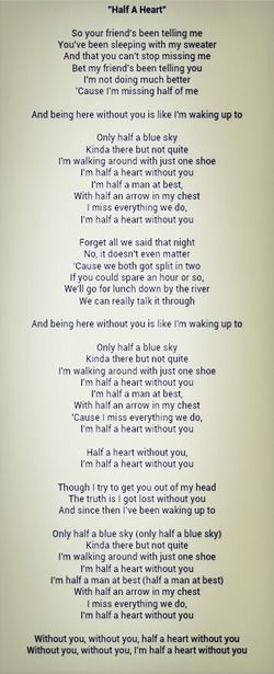 My new favorite song :( Halfaheart One Direction ThingsThatMakesMeCryThanEver RemindingMeOfSomeoneSpecialInMyHeart