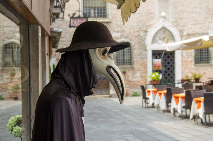 Architecture Building Exterior Built Structure Carnival City City Day Italy Mask One Person Outdoors Plague Doctor Travel Venetian Mask Venice Venice, Italy