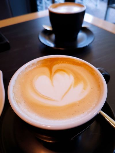 Drink Coffee - Drink Coffee Cup Cappuccino Food And Drink Close-up Indoors  High Angle View Cafe Freshness Healthy Eating Mocha