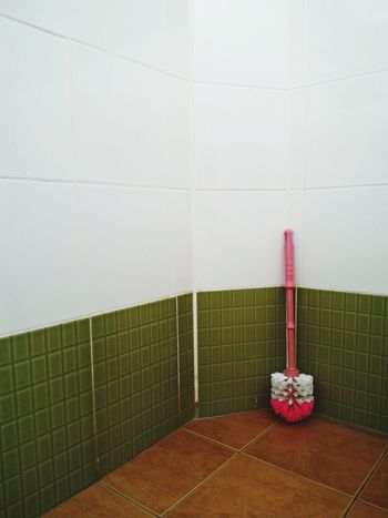 Cleaning Wall - Building Feature Indoors  Cleaning Equipment Housework Bathroom No People Domestic Room Day Washing Home Interior Toilet Backgrounds Green Color Close-up Focus On Foreground Textured  Indoors