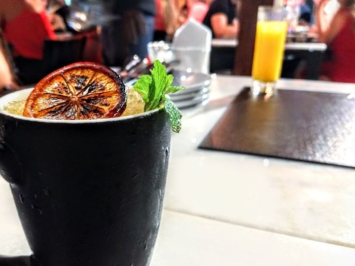 Close-up of drink on table at restaurant