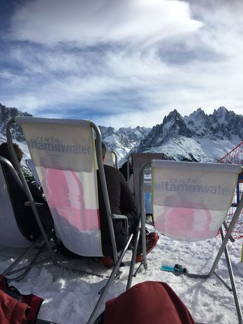 Deck Chair Beauty In Nature Cloud - Sky Cold Temperature Mountain Mountain Range Outdoors Scenics - Nature Sky Snow Snowcapped Mountain Winter