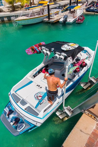 🚤Loading up for a fun day at sea on the axis🚤~ Nautical Vessel Day Water Grandturk Beauty In Nature Turksandcaicos Paradise Godscreation Travel Destinations Tropical Climate Summer Sea Tourism Sony Wake Boarding Wakeboat